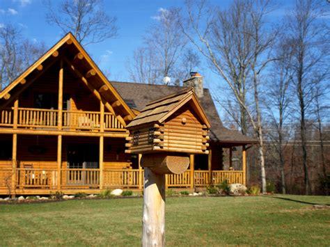 connecticut countryside log home contemporary exterior