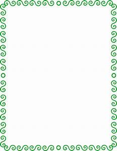 S spiral border green   Page Borders   Pinterest   Clip art