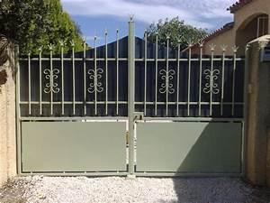 Portail Coulissant Castorama : portail coulissant en fer lapeyre ~ Edinachiropracticcenter.com Idées de Décoration