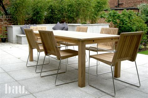 Wooden Furniture In A Contemporary Setting by Tripoli Contemporary Teak Garden Chairs Bau Outdoors
