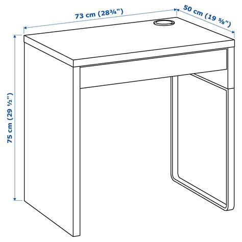bureau micke blanc micke bureau blanc 73x50 cm ikea