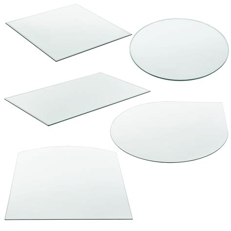 tempered fireplace glass plate fireplace base floor protectionliving  decoration