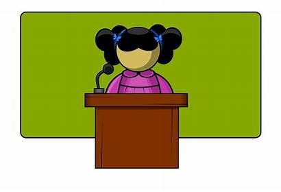 Clipart Speaker Presentation Cliparts Speaking Clip Student