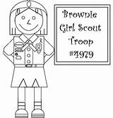 Scout Coloring Pages Brownies Scouts Brownie Clipart Activity Quest Daisy Doll Troop Crafts Library Planting Nature Flowers Pintables Voteforverde Popular sketch template