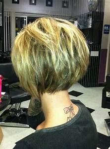 2019 Popular Short Inverted Bob Haircut Back View
