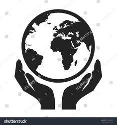 hand globe tattoo fisioterapia logotipo disenos de