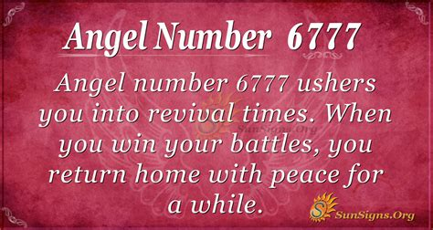 Angel Number 6777 Meaning: Revival Times | SunSigns.Org