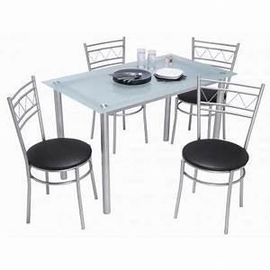 Table Cuisine Grise : table et chaise de cuisine grise ~ Teatrodelosmanantiales.com Idées de Décoration