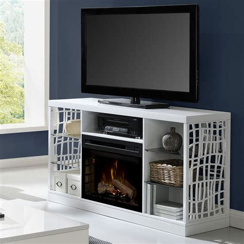 white fireplace tv stand electric fireplace tv stand in white