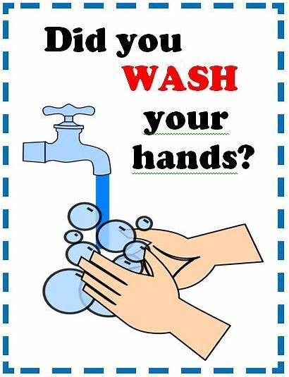 Poster Safety Hands Wash Washing Hand Sign