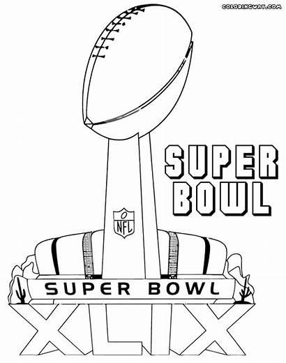 Bowl Super Coloring Pages Colorings Superbowl