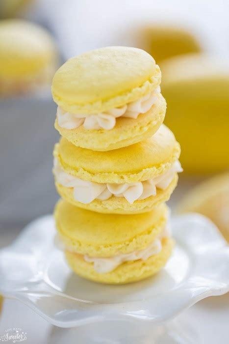 lemon macarons  coconut buttercream