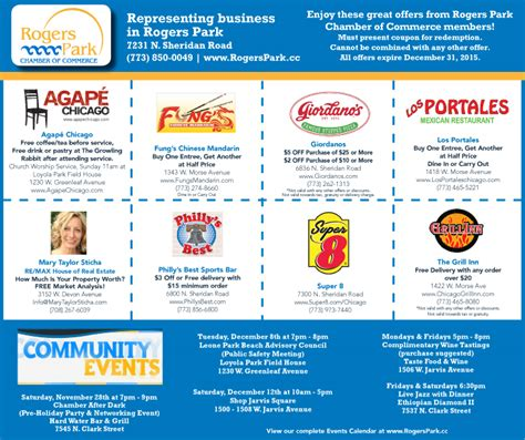 34332 Agape Diamonds Coupon by Rogers Park Chamber Of Commerce 2015