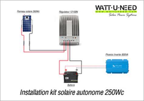 panneau solaire installation autonome
