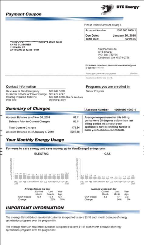 Dte Energy Bill   Autos Post