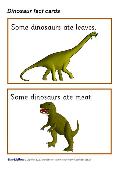 dinosaur fact cards sb sparklebox