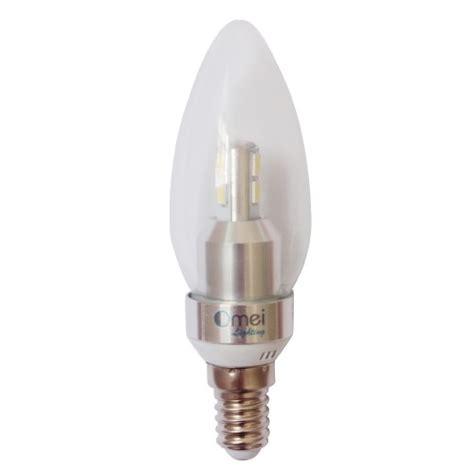 6 pack dimmable led candelabra base light bulbs e12 3w