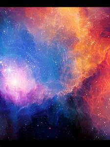 768x1024 Glowing Space Nebula Star Ipad wallpaper