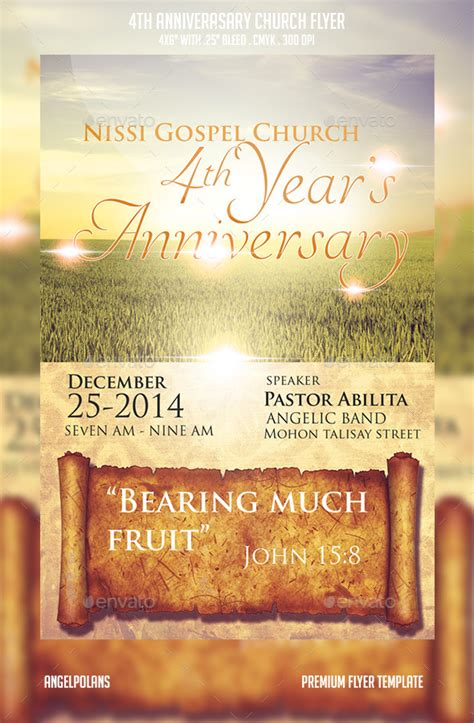 christian anniversary cards template 17 pastoral anniversary flyer templates images church