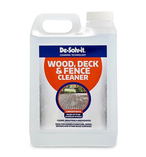 de solv  wood deck  fence cleaner concentrate