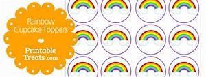 Free Rainbow Cupcake Toppers — Printable Treats com