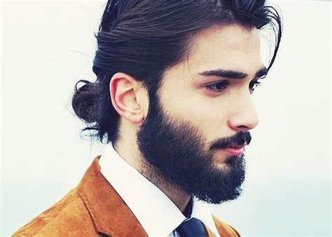 barbe  chignon coiffure en image