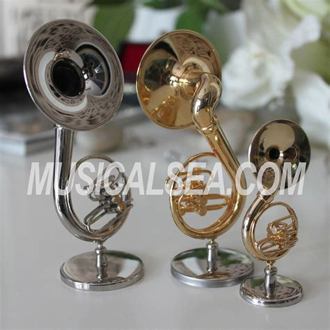 goldensilver miniature sousaphone decorative musical