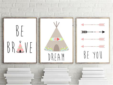 set of 3 nursery prints bedroom wall nursery