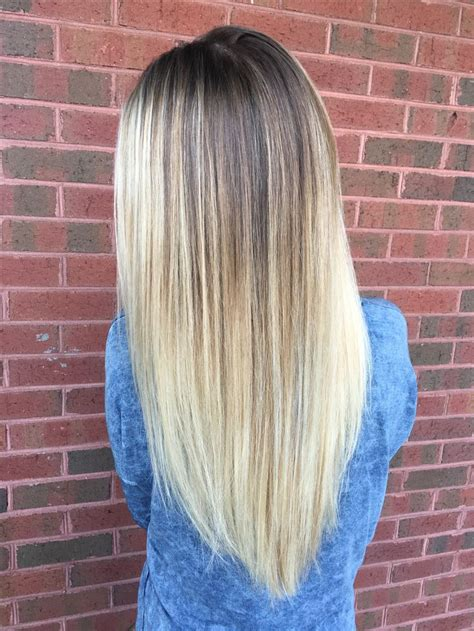 cool tone icy blonde  natural roots  lowlights