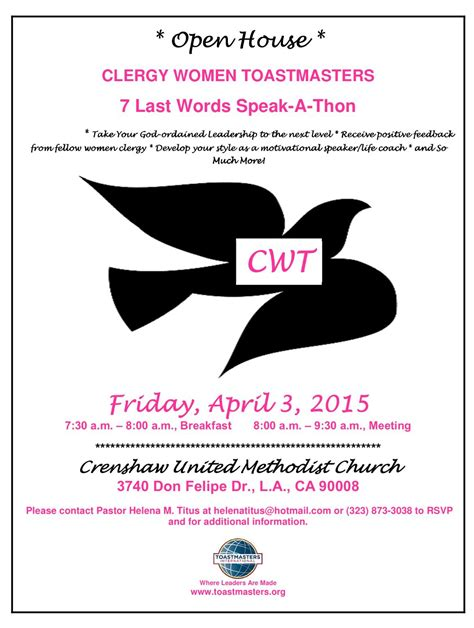 join clergy women toastmasters     words