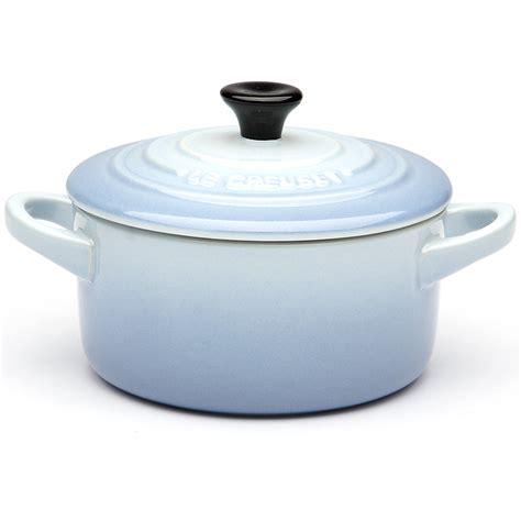 le creuset light blue casserole dish le creuset coastal blue mini stoneware casserole dish