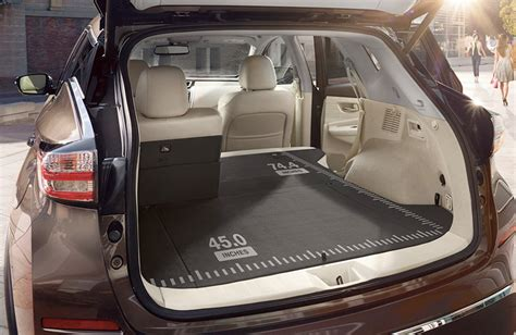 nissan tiida trunk space how much cargo space does the 2017 nissan murano have