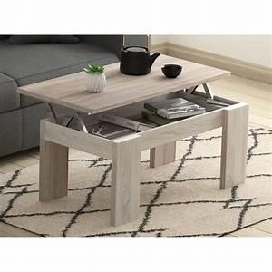 Table Tres Basse : table basse ch ne l100 x l50 cm plateau relevable avec ~ Teatrodelosmanantiales.com Idées de Décoration