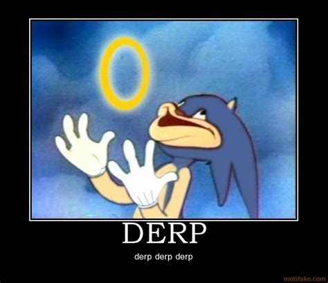 Derp Face Meme Generator - derp sonic the hedgehog photo 10015621 fanpop