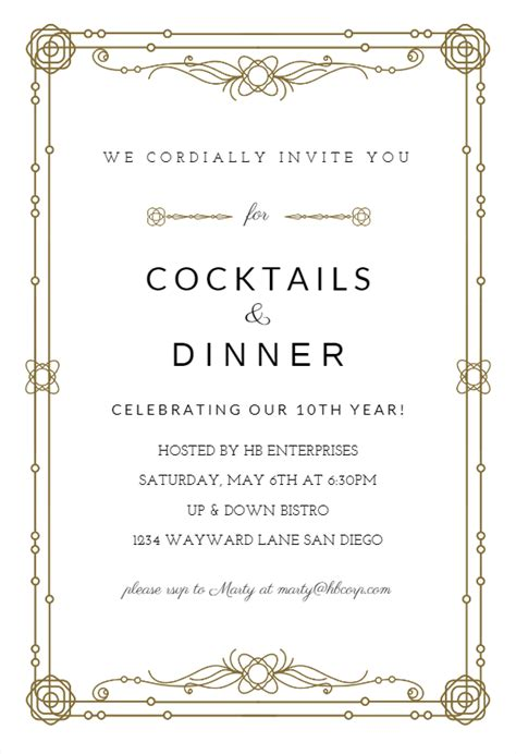 classic border business event invitation template