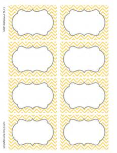 52 Labels Per Sheet Template Chevron Labels Print Your Own Labels Yellow And Grey