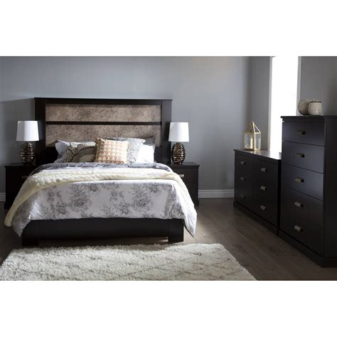 South Shore Gloria King Headboard With Lights 78