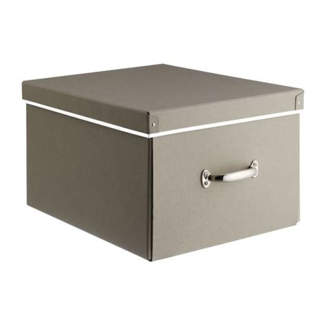 boites de rangement bureau kraft boîtes taupe habitat