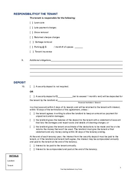 residential lease agreement alberta