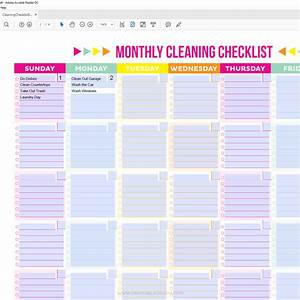 editable printable cleaning schedule and checklist printable crush With editable cleaning schedule