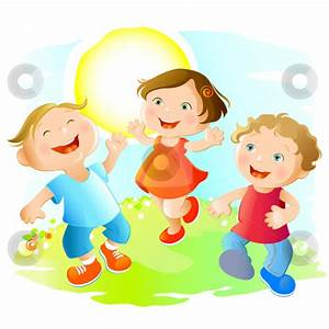 happy kids playing clipart - Clipground