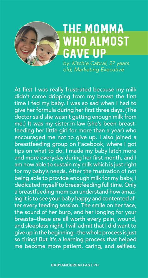 Inspiring Breastfeeding Stories Philippines Mommy Family