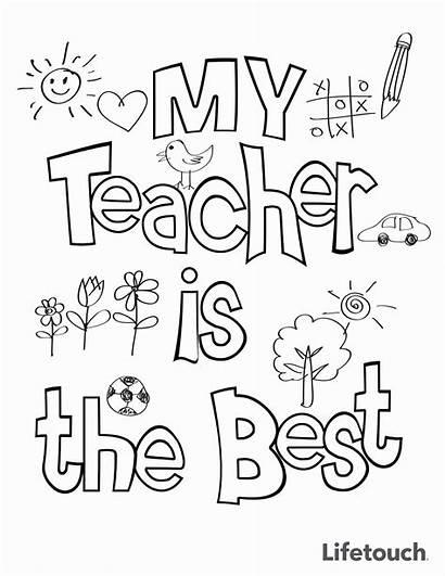 Teacher Coloring Appreciation Happy Teachers Cards Sheet