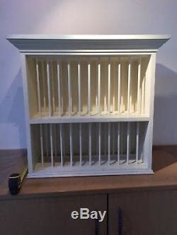 hand  solid wood wall mounted plate rack  kitchen