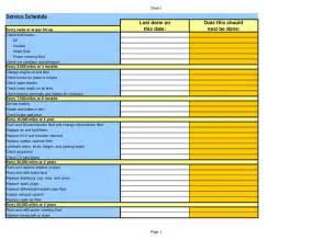 Auto Maintenance Schedule Spreadsheet car service maintenance schedule excel spreadsheet
