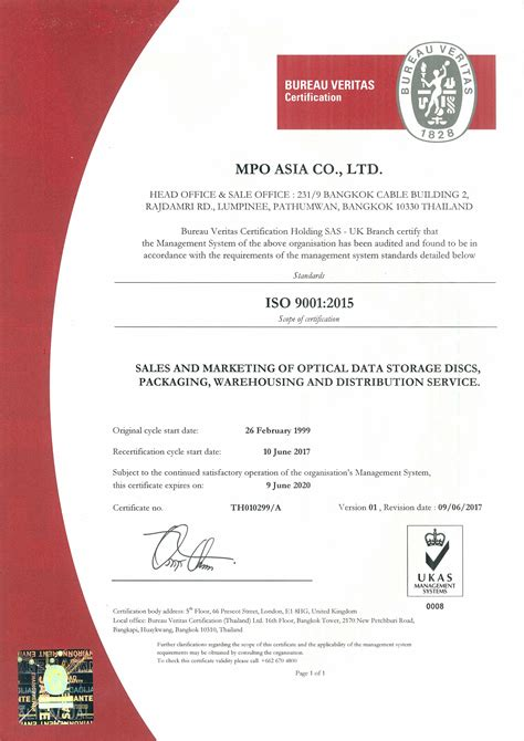 bureau certification corporate commitment mpo