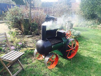 traction engine tractor log burner bbq smoker