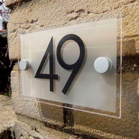 acrylic house number door number sign plaque ebay