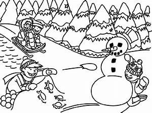 winter tree coloring pictures Archives - Kids Coloring ...