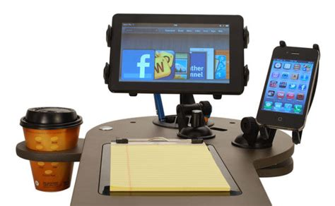 mobile desk for car custom car mobile office vehicle workstation journidock